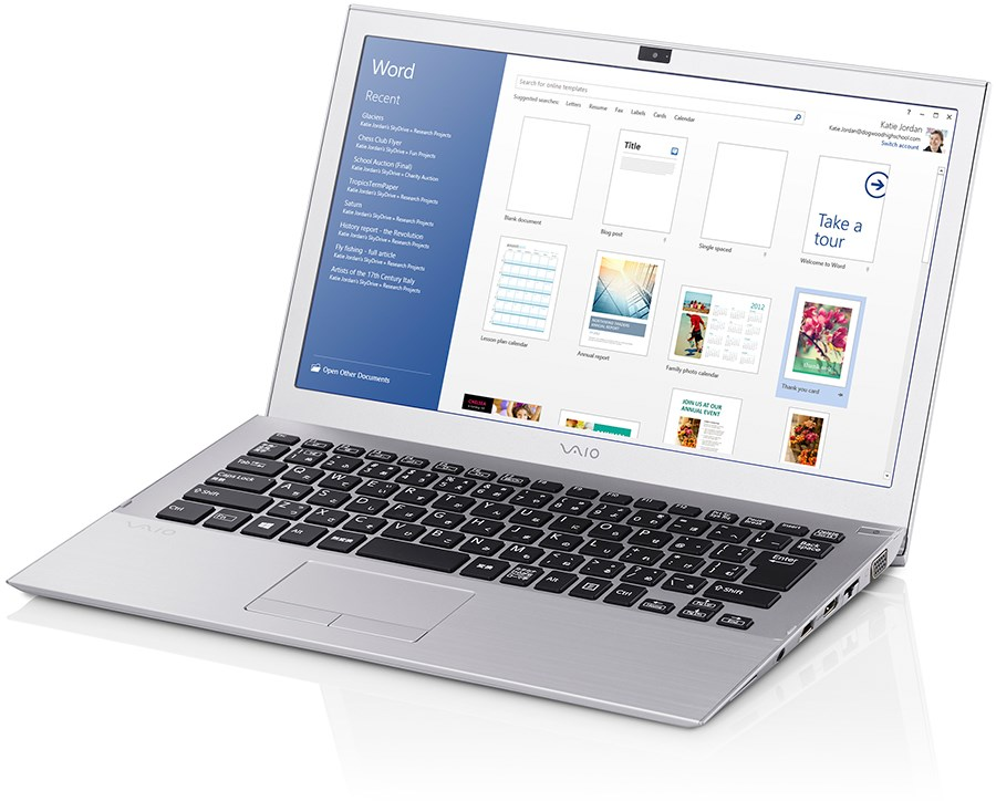 Veja o Notebook Pro 13G VAIO, a digitação mais confortável